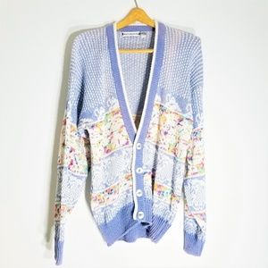 Vintage Saturdays Funfetti Oversized Cardigan